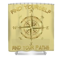 Shower Curtain featuring the painting Find Yourself Find Your Paths by Georgeta Blanaru