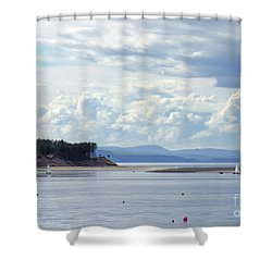 Findhorn Bay - Moray Firth Shower Curtain