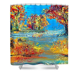 Finding Father Shower Curtain