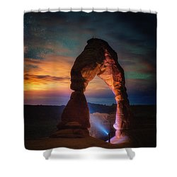 Finding Heaven Shower Curtain by Darren White