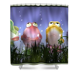 Finding Nemo Figurine Characters Shower Curtain by Brian Wallace