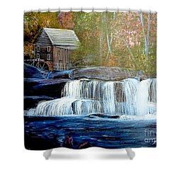 Finding The Living Waters Original Shower Curtain