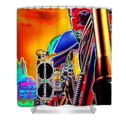 Fine Art Chopper I Shower Curtain by Mike McGlothlen