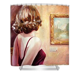 Fine Art Gallery Opening Night Shower Curtain by Michael Rock