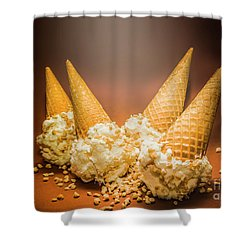 Fine Art Ice Cream Cone Spill Shower Curtain