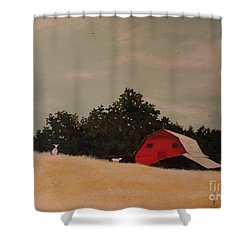 Fine August Day Shower Curtain by Carla Dabney