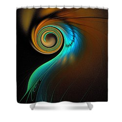 Fine Feathers Shower Curtain by Amanda Moore