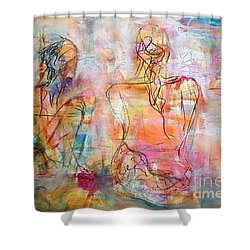 Fine Time With Hue Shower Curtain