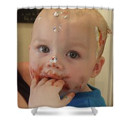 Finger Lickin Good Shower Curtain by Val Oconnor