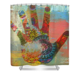 Finger Paint Shower Curtain by Kelly Awad