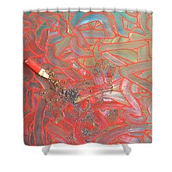 Finger Painting Shower Curtain