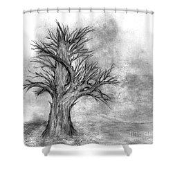 Finis Shower Curtain by John Krakora