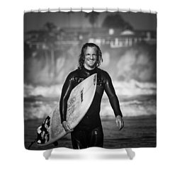 Finished Surfing Shower Curtain