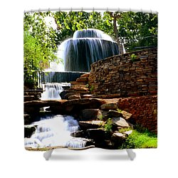 Shower Curtain featuring the photograph Finlay Park Columbia Sc Summertime by Lisa Wooten