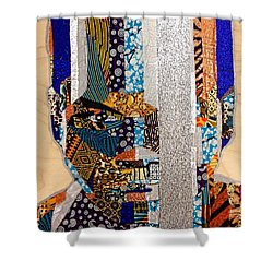 Finn Star Wars Awakens Afrofuturist  Shower Curtain