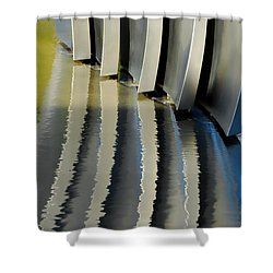 Fins Shower Curtain by Donna Blackhall