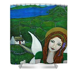 Fiona An Irish Earthangel Shower Curtain by The Art With A Heart By Charlotte Phillips