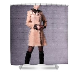 Shower Curtain featuring the digital art Fiona by Nancy Levan