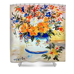 Fiori Gialli Natura Morta Shower Curtain