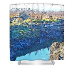 Fir Island November Shower Curtain