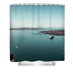 Fira, Santorini - Greece Shower Curtain