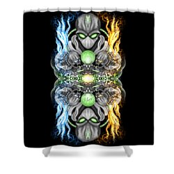 Fire And Ice Alien Time Machine Shower Curtain