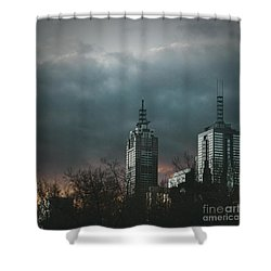 Fire And Ice Shower Curtain by Andrew Paranavitana