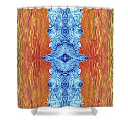 Fire And Ice - Digital 2 Shower Curtain by Otto Rapp
