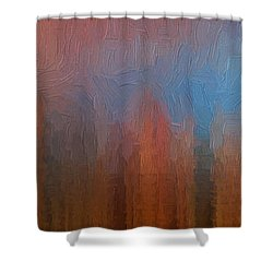 Shower Curtain featuring the photograph Fire And Ice by Ken Smith