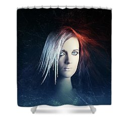 Fire And Ice Portrait Shower Curtain