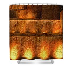 Fire And Water Shower Curtain by Sandra Bronstein
