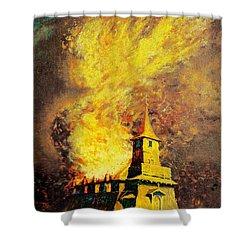 Fire Angel Shower Curtain