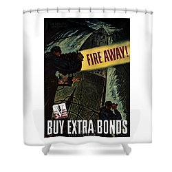 Fire Away Shower Curtain by War Is Hell Store