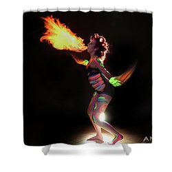 Fire Blowin Shower Curtain