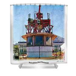 Fire Boat Shower Curtain