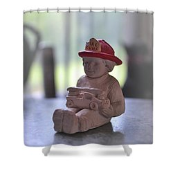 Fire Chief Molded Stone Shower Curtain