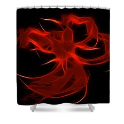 Shower Curtain featuring the digital art Fire Dancer by Holly Ethan