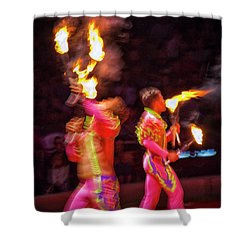 Fire Eaters Shower Curtain