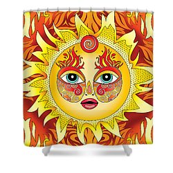 Fire Element Shower Curtain by Serena King