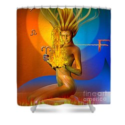 Shower Curtain featuring the digital art Fire Elemental by Shadowlea Is