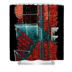 Fire Escape 7 Shower Curtain by Tim Allen