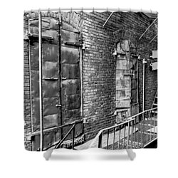 Fire Escape And Doors Shower Curtain