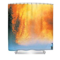 Fire Fly Fishing Shower Curtain by Darwin Wiggett