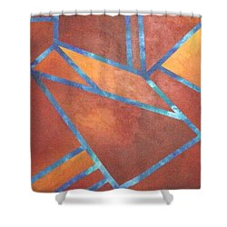 Fire From The Sky Shower Curtain