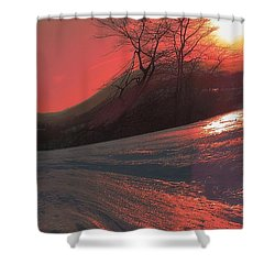 Fire Frost Shower Curtain