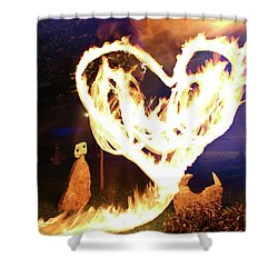 Fire Heart Shower Curtain by Andrew Nourse