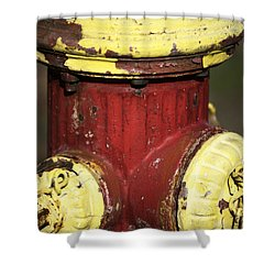 Fire Hydrant Colors Shower Curtain by John Rizzuto