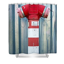Fire Hydrant Steel Wall Shower Curtain
