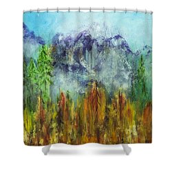 Fire In Glacier Park Shower Curtain