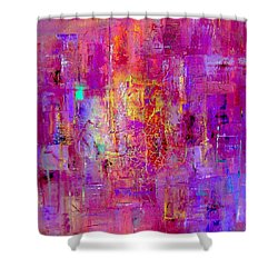 Fire In My Heart Abstract Shower Curtain